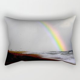 Huntington Beach  Rainbow Rectangular Pillow