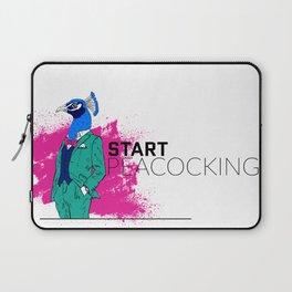 Start Peacocking Laptop Sleeve