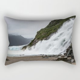 Nugget Falls and the Mendenhall Rectangular Pillow