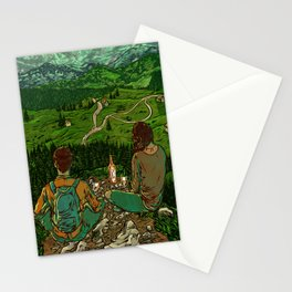 Mountains in Romania Stationery Cards
