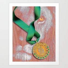 The Oz Suite - The Cowardly Lion Art Print