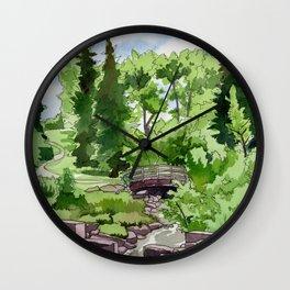 Little Confederation Park Bridge Wall Clock