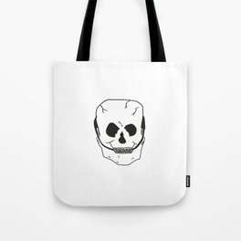 Skull with braces Tote Bag