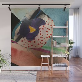 Delicate Flower Mixed Media Wall Mural