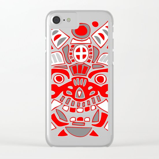 Fantasy Spirit Mask #1 Clear iPhone Case