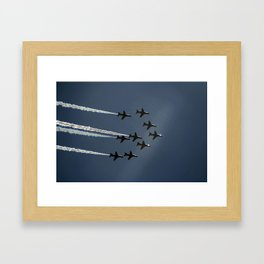 The Red Arrows flying in formation Framed Art Print