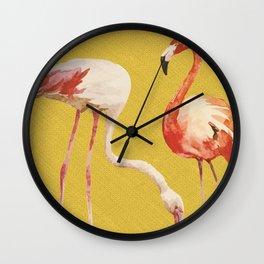 Bold Flamingo Caribbean and Tropical inspired design Wall Clock