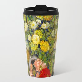 Bouquet of Flowers in a Vase Vincent van Gogh Oil on canvas 1890 Travel Mug