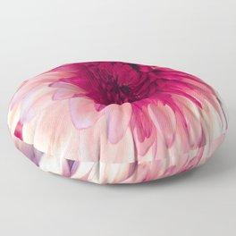 Pink Dahlia Floor Pillow