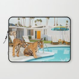 Tigers at the Pool Laptop Sleeve