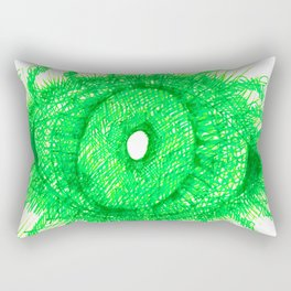 Green Eye Rectangular Pillow