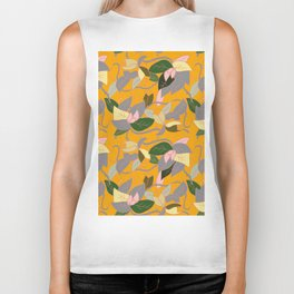 Floral and thorn pattern Biker Tank