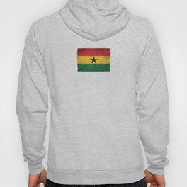 Old and Worn Distressed Vintage Flag of Ghana Hoody