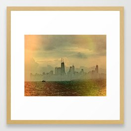 Foggy Skyline #4 Framed Art Print
