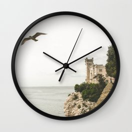 Flying on the castle Wall Clock