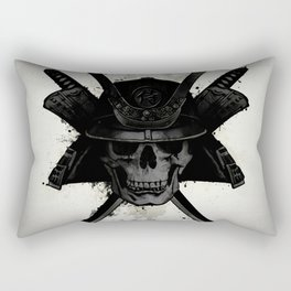 Samurai Skull Rectangular Pillow