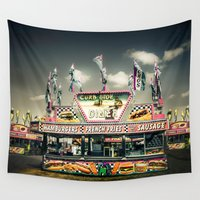 junk food Wall Tapestries featuring Fair Food  by Forand Photography