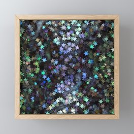 Fairy Light Stars Framed Mini Art Print