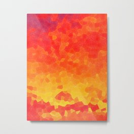 Mosaic Lake of Fire Metal Print