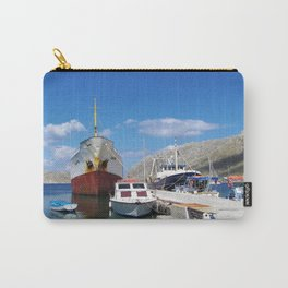 Old Battered Cargo Ship Carry-All Pouch