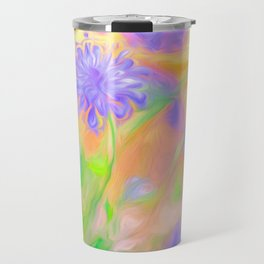 Purple Flower Garden Travel Mug