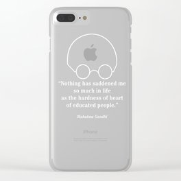 Quotation from a Wise Leader, white text Clear iPhone Case