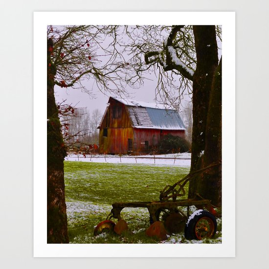 Remnants of a Simpler Time - The Barn Art Print