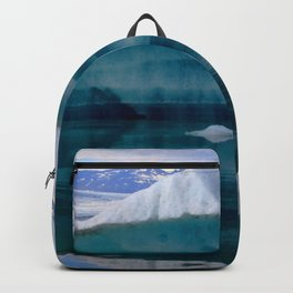 Watercolor Landscape, Jokulsarlon 04, Iceland Backpack