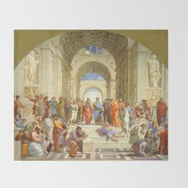"Raffaello Sanzio da Urbino ""The School of Athens"", 1509-1510 Throw Blanket"