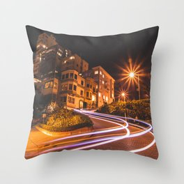 Lombard Street, SF Throw Pillow