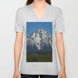 Beautiful Grand Teton NP Unisex V-Neck