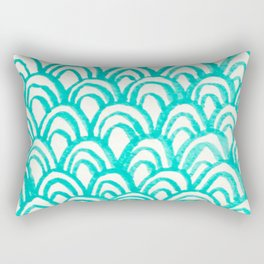 Minty Scales of the Sea Rectangular Pillow