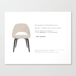 Mid-Century Saarinen Chair Canvas Print