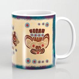 Mayan Baby Jaguar Folk Art Textile Coffee Mug
