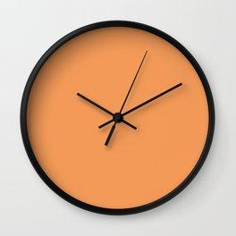 Asymmetrical Glow ~ Apricot Wall Clock