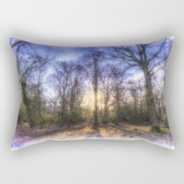 The Early Morning Pastel Forest Art Rectangular Pillow