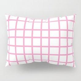 Pink Grid Pillow Sham