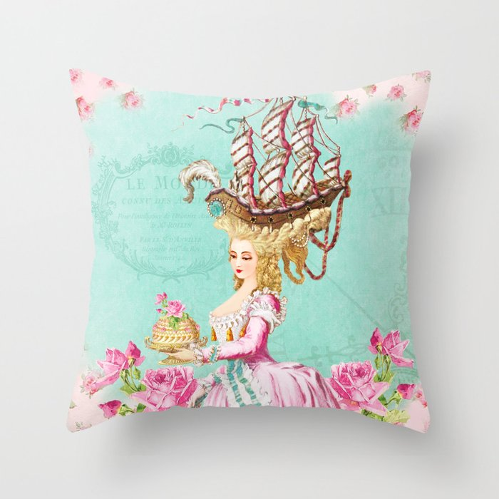 Marie Antoinette Liberté Throw Pillow