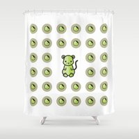 mouse Shower Curtains featuring Mouse by Txell Giménez