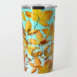 Autumn Leaves Azure Sky Travel Mug