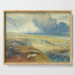 """J.M.W. Turner """"Great Yarmouth, Norfolk, with Nelson's Column"""" Serving Tray"""