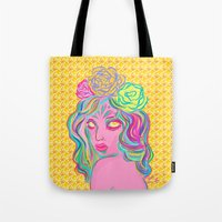 avatar Tote Bags featuring Avatar by Hannah  Aryee