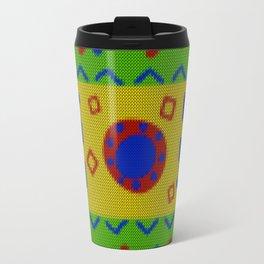 Ethnic African Knitted style design Travel Mug