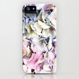 Hydrangea pastel iPhone Case