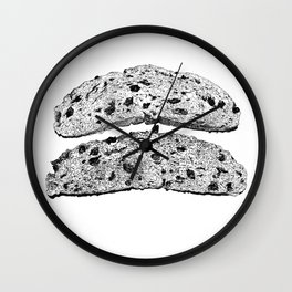 2 pieces of toast Wall Clock