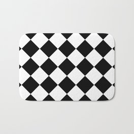 Diamond Black & White Bath Mat