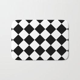 Diamond Black & White Bath Mat