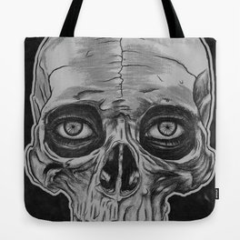 Behind the skull Tote Bag