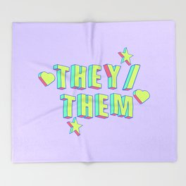 They/Them Throw Blanket