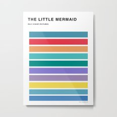 The colors of - The little mermaid Metal Print